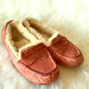 UGG pink leather slippers